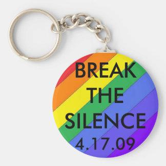 rainbow2, BREAKTHESILENCE, 4.17.09 Keychain