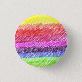 Rainbow 1 Inch Round Button
