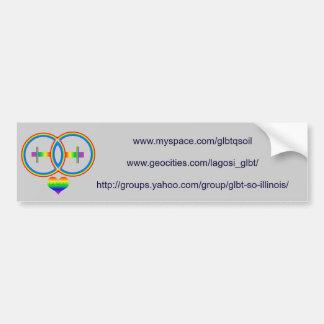 Rainbow-2female-LAGOSI grey bumper sticker