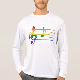 Rainbow 'A' Musical Note T-Shirt