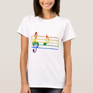 Rainbow 'A' Musical Note T-Shirt