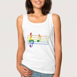 Rainbow 'A' Musical Note Tank Top