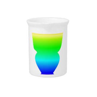 Rainbow Absinthe Glass Drink Pitcher