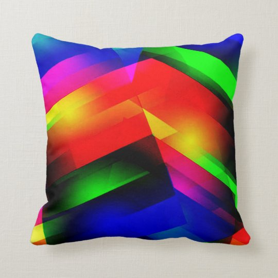 Rainbow Abstract American MoJo Pillow