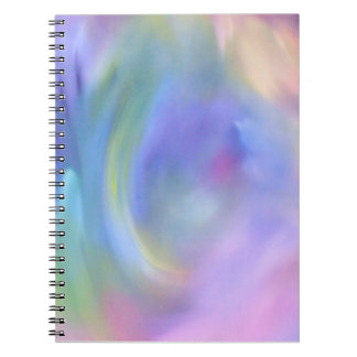 Rainbow Abstract Art Notebook (80 Pages B&W)