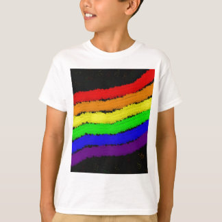 Rainbow abstract design by Moma T-shirts