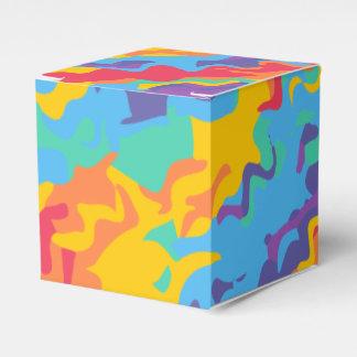 Rainbow abstract digital gift box of happiness