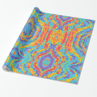 Rainbow abstract digital print paper roll