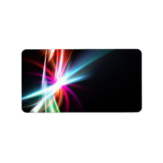 Rainbow Abstract Fractal Label