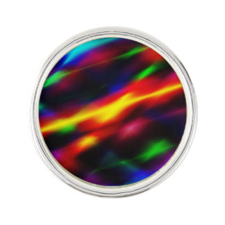 Rainbow Abstract Lapel Pin