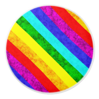 Rainbow abstract pattern ceramic knob