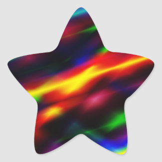 Rainbow Abstract Star Sticker