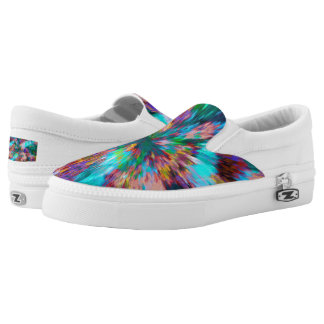 Rainbow Abstract Zipz Slip On Shoes