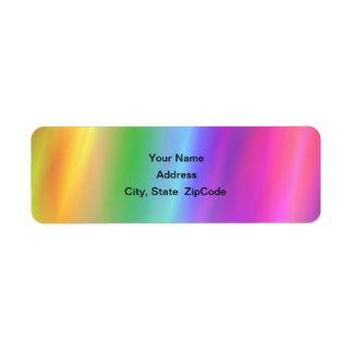 Rainbow Address Avery Label Return Address Label