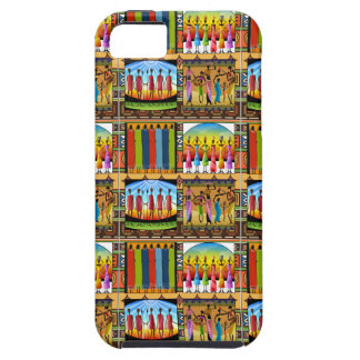 Rainbow African Dress Vivid Colorful Clothes iPhone 5 Case