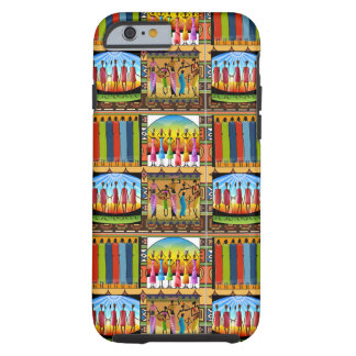 Rainbow African Dress Vivid Colorful Clothes Tough iPhone 6 Case