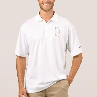 Rainbow Alabama map Polo Shirt