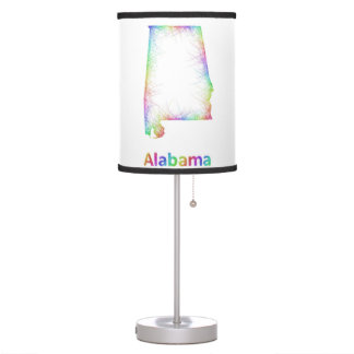 Rainbow Alabama map Table Lamps