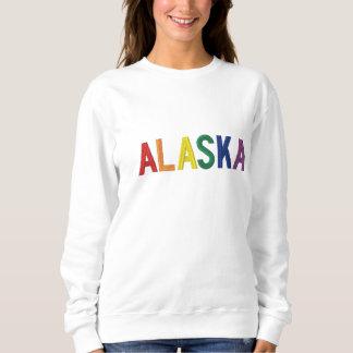 Rainbow Alaska Embroidered Sweatshirt