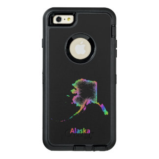 Rainbow Alaska map OtterBox iPhone 6/6s Plus Case
