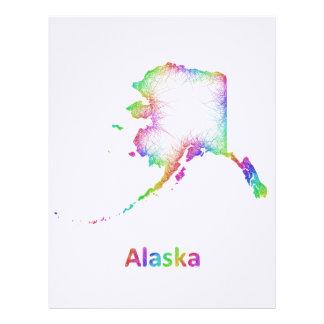 Rainbow Alaska map Personalized Letterhead