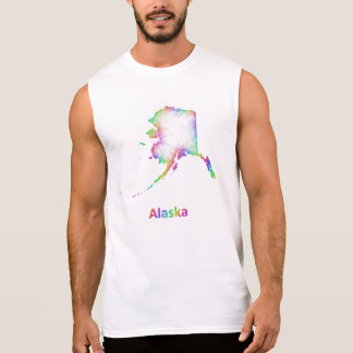 Rainbow Alaska map Sleeveless Shirt