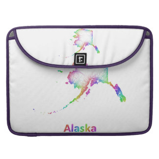 Rainbow Alaska map Sleeves For MacBook Pro