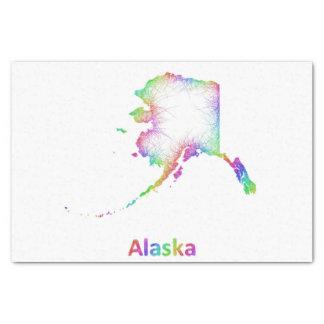 Rainbow Alaska map Tissue Paper