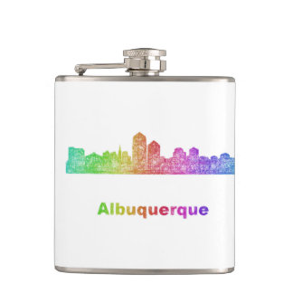 Rainbow Albuquerque skyline Flasks