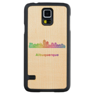 Rainbow Albuquerque skyline Maple Galaxy S5 Slim Case