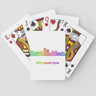 Rainbow Albuquerque skyline Playing Cards