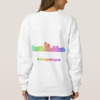 Rainbow Albuquerque skyline Sweatshirt