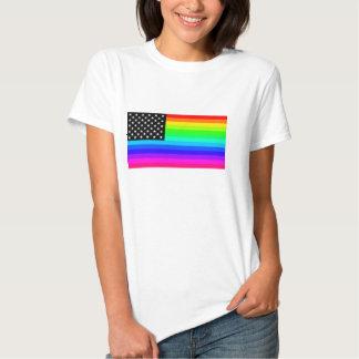 Rainbow American Flag Tshirts