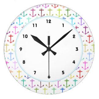 Rainbow anchor pattern clocks