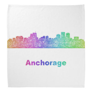 Rainbow Anchorage skyline Bandanna
