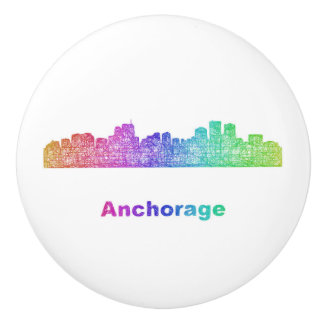 Rainbow Anchorage skyline Ceramic Knob