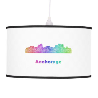 Rainbow Anchorage skyline Hanging Pendant Lamp