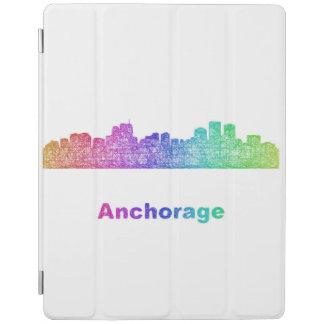 Rainbow Anchorage skyline iPad Cover