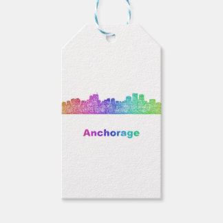 Rainbow Anchorage skyline Pack Of Gift Tags