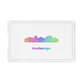 Rainbow Anchorage skyline Perfume Tray