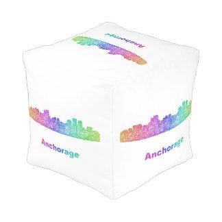 Rainbow Anchorage skyline Pouf