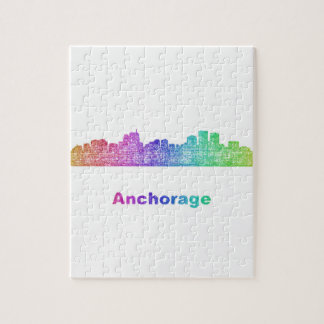 Rainbow Anchorage skyline Puzzle