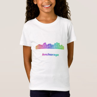 Rainbow Anchorage skyline T-Shirt