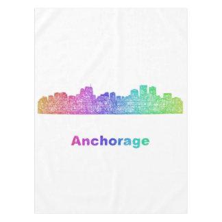 Rainbow Anchorage skyline Tablecloth