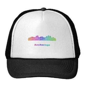 Rainbow Anchorage skyline Trucker Hat