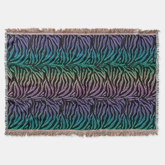 Rainbow and Black Animal Print Throw Blanket