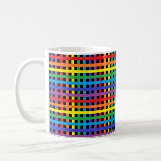 Rainbow and Black Weave Coffee Mug