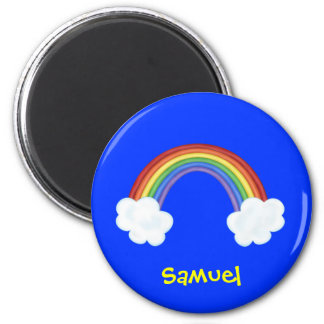 Rainbow and Clouds Personalized Name Gift Magnet