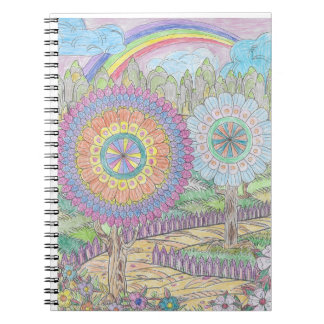 Rainbow and Flowers Notebook