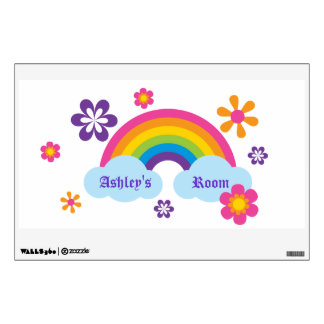 Rainbow and Flowers Wall Decal